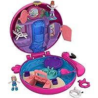 Polly Pocket Coffret Univers La Piscine du Flamant Rose avec 2 mini-figurines et accessoires, autocollants et 5 surprises cachées, jouet enfant, FRY38