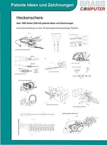 Heckenschere, über 1800 Seiten (DIN A4) patente Ideen und Zeichnungen