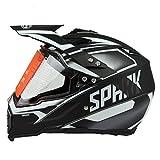 Woljay Cross Offroad Helm Motocross-Helm Fahrrad Für ATV MX Motocross Helm mit Sonnenblende Klar Silber Trupp (L)