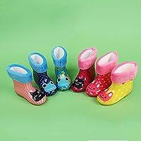 HUHU833 Infant Child Rain Boots Waterproof Animal Rubber Children Rain Shoes