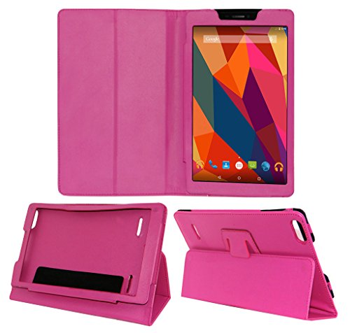 Acm Executive Leather Flip Case Micromax Canvas Tab P680 Tablet Front & Back Flap Cover Holder Pink  available at amazon for Rs.219
