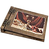 50 Blatt Holzalben Holzbücher schwarzer Karton Fotos