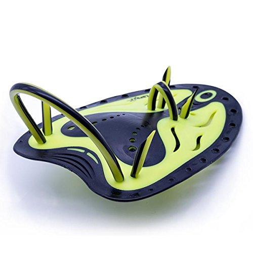 JOYOOO Schwimm Trainingstool Erwachsene Hand Paddle (L, Gelb)