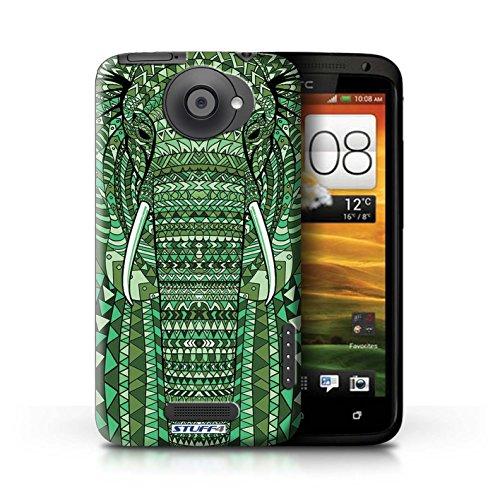 Kobalt® Imprimé Etui / Coque pour HTC One X / Singe-Pourpre conception / Série Motif Animaux Aztec éléphant-Vert
