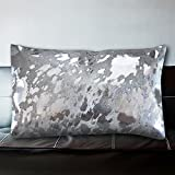 half cushion cow white silver