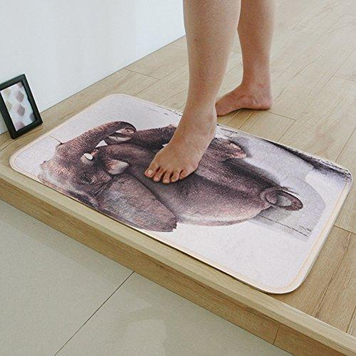 Uarter stampa digitale da bagno mates 58,4x 40,6cm elefante tappeto bagno tappetino antiscivolo con memory foam velluto