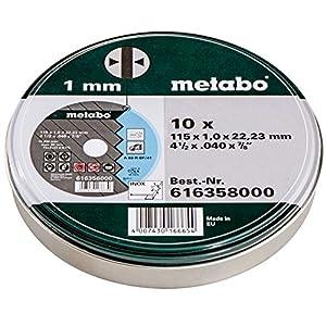 51UygQMZg0L. SS300  - Metabo 616358000 616358000-Lata con 10 Discos A 60-R-BF/41 de 115 x 1,0 x 22,22 mm