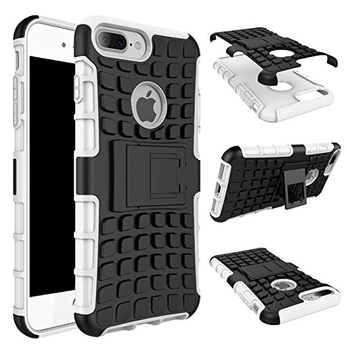iPhone 7 Plus Hülle, iPhone 8 Plus Hülle, Valenth Armor Drop Beweis Ganzkörper Rückseiten Cover Hülle für iPhone 8 Plus / iPhone 7 Plus Weiß