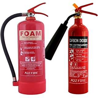 2kg CO2 Fire Extinguisher & 6 Litre Foam Fire Extinguisher with ID Signs