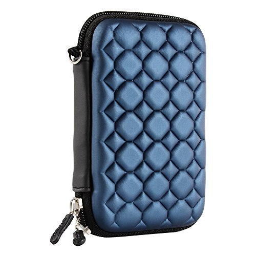 Alexvyan Shock Proof External Hard Disk Case Protector for 2.5 Inch Lenovo F309 , F310S 1TB USB 3.0 2.0 Cover HDD Casing Carry Bag Pouch Sleeve Enclosure -Blue Bubble