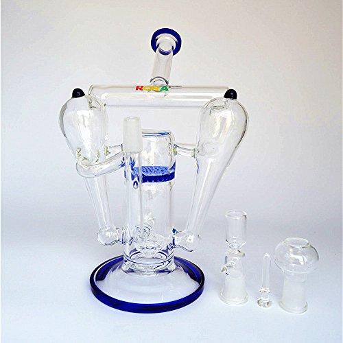 Folie Rohrleitungen (Hookah Water Glass Pipes - RORA 14.5mm Gelenkgröße Glasschale mit Bongs Blau)