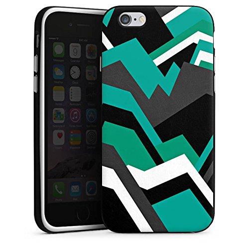 Apple iPhone X Silikon Hülle Case Schutzhülle Steine Berge Muster Silikon Case schwarz / weiß