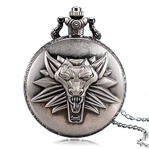Coole Taschenuhr mit Löwen-Design, Taschenuhr für Jungen und Mädchen, Taschenuhr, ()