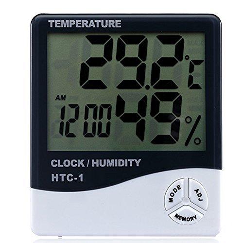Jooks Innen und Außenbereich LCD Digital Temperatur Luftfeuchtigkeit Meter Thermometer (Niedrig-temperatur Lcd)