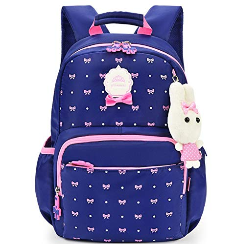 CYZHOP Primary School Children's School Bag Female Disney Princess Casual Cute Korean Version of The Large-Capacity Backpack