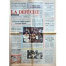 DEPECHE DU MIDI AVEYRON (LA) [No 13130] du 20/08/1984 - ANNONCE DE CHARLES HERNU A TOULOUSE/ L'AVION DE COMBAT EUROPEEN POUR BIENTOT -MITTERRAND DANS LE GERS - L'ART D'ETRE GRAND-PERE -FRANCOIS LEOTARD AU FORUM RMC -APRES LES ATTENTATS DE LYON - GRENOBLE ET ANNECY -INSECURITE ET TERRORISME / PIERRE JOXE -LES SPORTS / CATCH FEMININ A SEINS NUS - FOOT - ABEGA -FRONTIGNAN / LA MAIRIE OUVRE UNE SOUSCRIPTION POUR SAUVER LE PETIT THOMAS QUI DOIT ETRE OPERE AUX USA -L'AUTOSTOPPEUSE MARTINE SOLIGNAC A