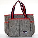 Wickeltasche Windel Still Tasche Mummy Baby Schwangerschafts Care Bag für Tote Umhängetasche mit mehreren Taschen groß Kapazität STILVOLL und Durable grau L