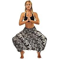 Pantalones de yoga de bolsillo de cintura alta. Ej Pantalones de yoga Pantalones de Bohemia Pantalones Harem de Pilates adecuados para mujeres Fitness Home ( Color : Ycl009 , tamaño : Average code )