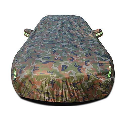 Auto Abdeckung, Oxford Tuch Wasserdicht Allwetter Schutz Mit Reißverschluss Spiegeltasche Für Automobil Indoor Outdoor Fit Limousine Wagon (Farbe : Tarnung, größe : Aveo)