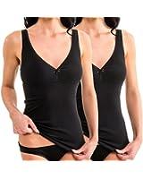 damen bh hemd mit spitze unterhemd mit integriertem bustier hermko 175803850. Black Bedroom Furniture Sets. Home Design Ideas