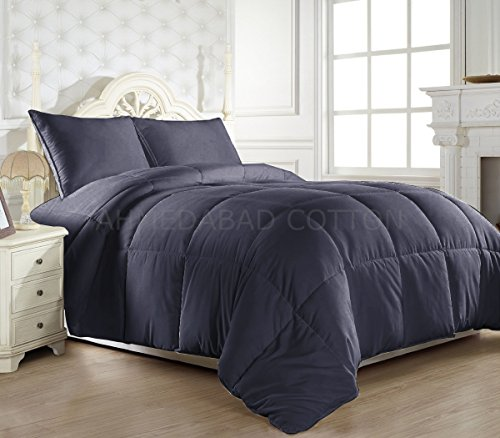 Ahmedabad Cotton Ultra-Plush Solid Microfibre Double Comforter, Grey