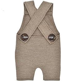 Amorar Bebés Pantalones de Peto Largos Pantalones Vaqueros Overalls Roto Jeans para Niños Niñas