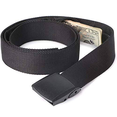 JasGood Reise versteckt Geld Tasche Nylon Gürtel Anti-Theft Wallet Nicht-Metallschnalle Damen & Herren Gürtel - Geld-gürtel Für Männer