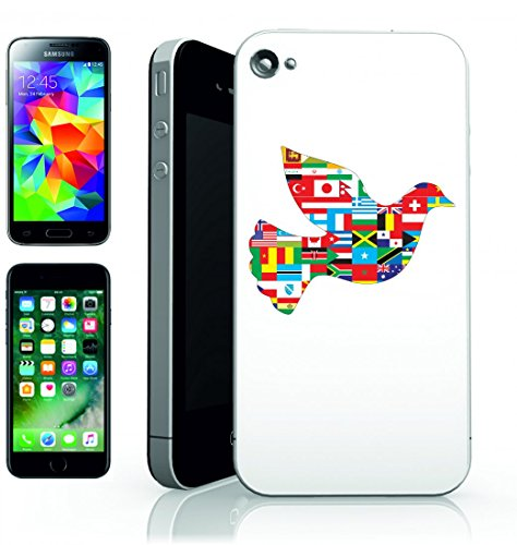 Smartphone Case animale dell Uccello del limiti-Continenti kartographie collaborazione di paesi della Colomba della Fuga di volare di Geografia della Globus per Apple Iphone 4/4S, 5/5S, 5C, 6/6S,