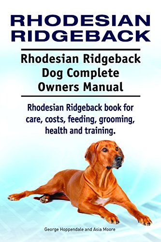 Rhodesian Ridgeback Dog Rhodesian Ridgeback Dog Book For Costs