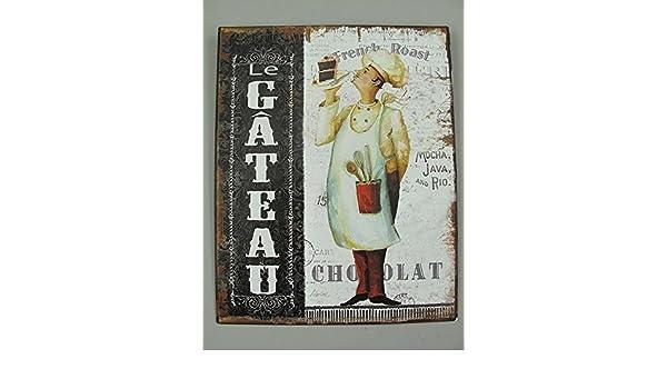Le Gateau Der Kuchen Nostalgie Blechschild Küchen Wandschild 25x20 G3667