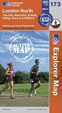 London North, The City, West End, Enfield, Ealing, Harrow & Watford (OS Explorer Map Active)