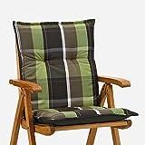 Sessel Auflagen 8 cm dick 103 cm lang in braun gruen Miami 90511-600 (ohne Stuhl)