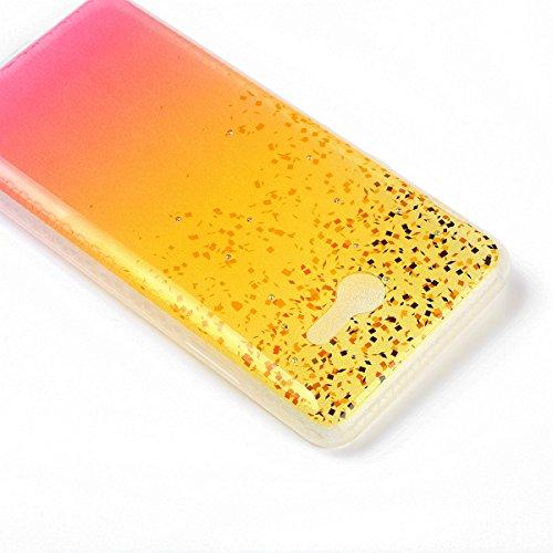 Coque Samsung Galaxy J3 2017 Glitter, Samsung Galaxy J3 2017 Coque Brillante, SainCat Ultra Slim TPU Silicone Case pour Samsung Galaxy J3 2017, Glitter Bling Diamante Strass Anti-Scratch Soft Gel 3D H Plage de Sable