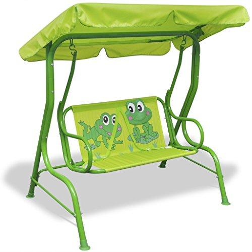 *vidaXL Kinder Hollywoodschaukel Kinderschaukel Gartenschaukel Gartenbank Froggy*