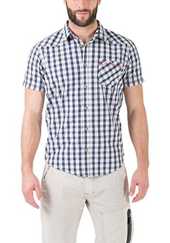 Timezone Herren Freizeithemd Donny Shirt Shortsleeve Blau (Blue Window Check 3985)