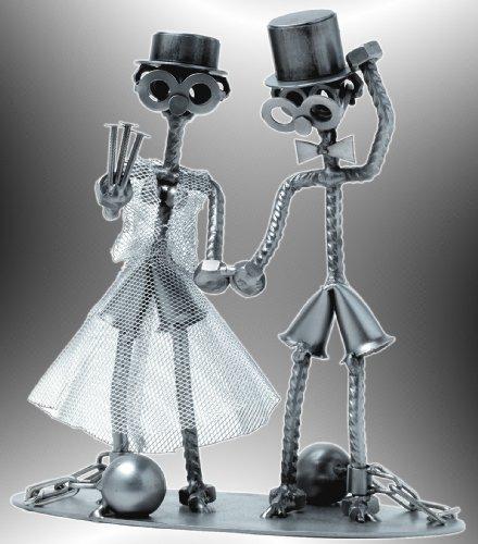 Boystoys HK Design - Schraubenmännchen Hochzeit 'Brautpaar lebenslänglich' - Metall Art...