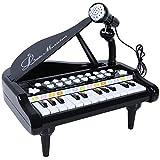 ANTAPRCIS Spielzeug Keyboard mit Mikrofon, Tragbar Kinder Klavier Piano Standkeyboard mit 24 Klaviertasten, Multifunktional Karaoke Klaviertastatur Musikinstrument für Baby Kleinkind Kinder Geschenk