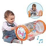 """LUDI - Baby roller """"Mer"""" 40 x 25 x 20 cm dès 6 mois. Rouleau gonflable qui développe la motricité des enfants. 3 balles sonores à faire circuler d'étage en étage - 3452"""