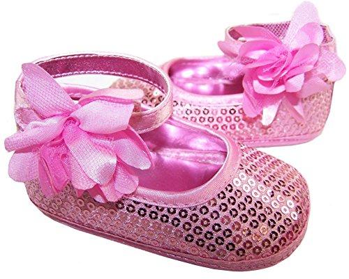 Sparkle Club babyevie, Baby Mädchen Krabbelschuhe & Puschen Rosa Rose Sparkle Club Kleid