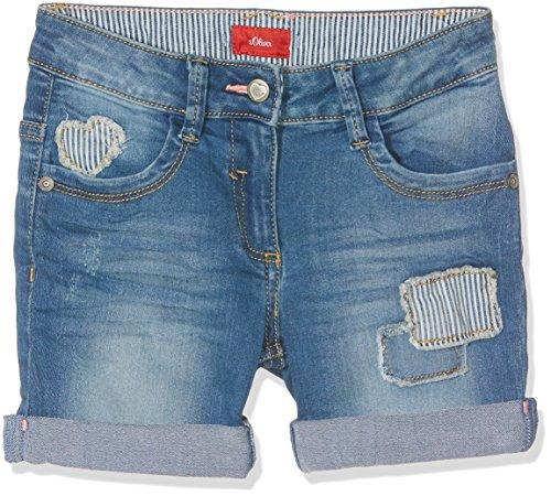 s.Oliver Mädchen Jeans Short, Blau (Blue Denim Stretch 55Z2), 110 (Herstellergröße: 110/REG)