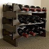 Vinrack Wooden Wine Rack 12 Bottle - Dark Stain