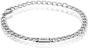 BREIL - Gioiello Collezione GROOVY, Bracciale e Collana da Uomo in Acciaio Inossidabile