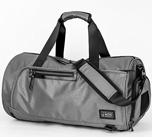 BLUBOON Gym Bag Holdall Sport Duffel with Shoe Compartment Travel Backpack  for Men and Women Overnight Travel Tote Bag (Dark Grey) - Buy Online in  Oman. 4c7287e8d3380