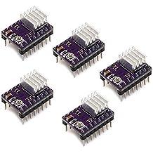 Redrex 5Pcs DRV8825 StepStick Motor Paso a Paso Drivers para Reprap 3D Impresora Electrónica Máquina CNC o Robótica