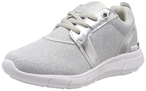 TOM TAILOR Mädchen 4871802 Sneaker, Silber (Silver), 40 EU
