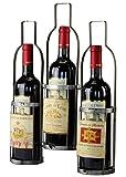 condecoro Flaschenhalter Bottles für 3 Flaschen aus Metall Wand- Weinregal