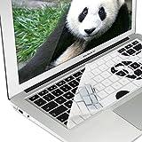 kwmobile Copritastiera per Apple MacBook Air 13''/ Pro Retina 13''/ 15'' (a metà 2016) - Pellicola in silicone per tastiera QWERTZ (Germania) - pc Skin Keyboard nero bianco
