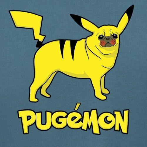 Pugemon - Damen T-Shirt - 14 Farben Indigoblau