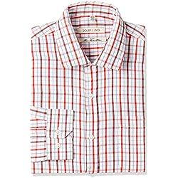 Excalibur Men's Formal Shirt (8907542556953_400016477962_42_Red)
