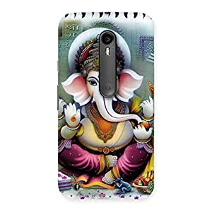 Enticing Ganesha Blessings Back Case Cover for Moto G Turbo